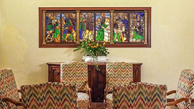 Credenza Con Vetri Colorati : Antiques abanoritz hotel terme